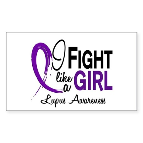 Fight Like A Girl Lupus Sticker (Rectangle)