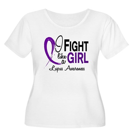 Fight Like A Girl Lupus Women's Plus Size Scoop Ne