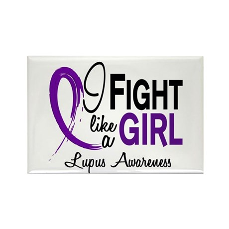 Fight Like A Girl Lupus Rectangle Magnet (100 pack