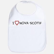 I Love Nova Scotia Bib
