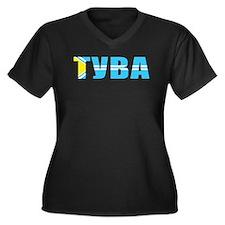 Tuva Women's Plus Size V-Neck Dark T-Shirt