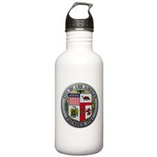 """3.2"""" LA City Seal on a Water Bottle"""