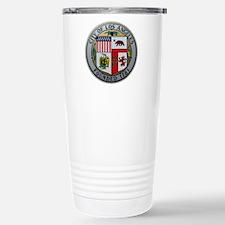 "2.5"" City of LA Seal on Travel Mug"