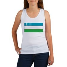 Uzbekistan Flag Women's Tank Top