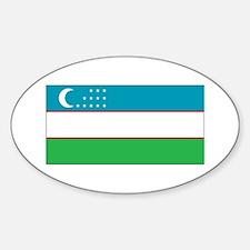 Uzbekistan Flag Sticker (Oval)