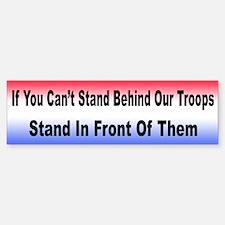 Stand Behind Our Troops Bumper Bumper Bumper Sticker