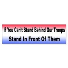 Stand Behind Our Troops Bumper Bumper Sticker