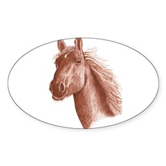 SEPIA INK HORSE HEAD Decal