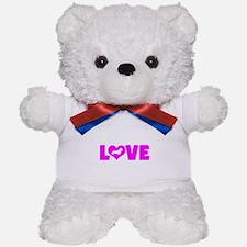 LOVE DACHSHUND (WIREHAIRED) Teddy Bear