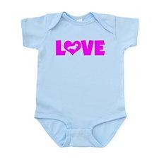 LOVE DACHSHUND (WIREHAIRED) Infant Bodysuit