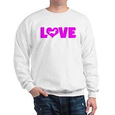 LOVE DACHSHUND (SMOOTH) Sweatshirt