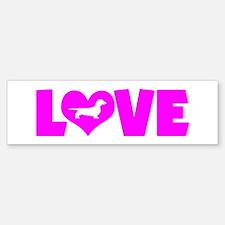 LOVE DACHSHUND (SMOOTH) Bumper Bumper Sticker