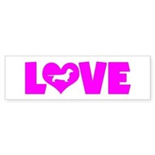 LOVE DACHSHUND (SMOOTH) Bumper Sticker
