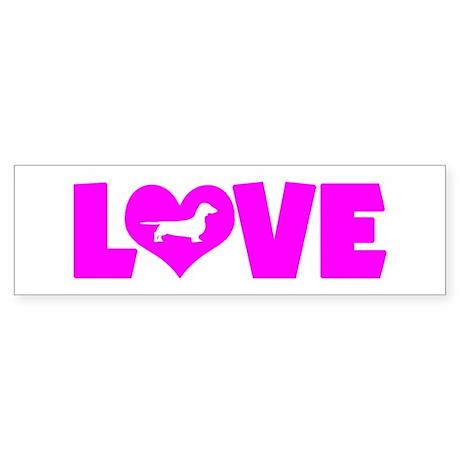 LOVE DACHSHUND (SMOOTH) Sticker (Bumper)