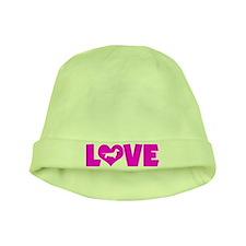 LOVE DACHSHUND (SMOOTH) baby hat