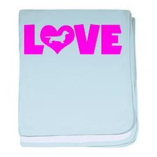 LOVE DACHSHUND (SMOOTH) baby blanket