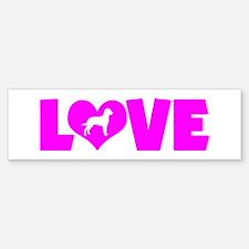 LOVE CURLY Bumper Bumper Sticker