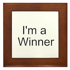Im a winner Framed Tile