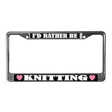 Knitting License Frame