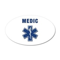 Medic and Paramedic 22x14 Oval Wall Peel