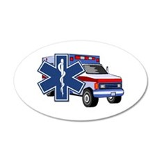 EMS Ambulance 20x12 Oval Wall Decal