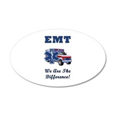 EMT We Are The Difference Wall Decal