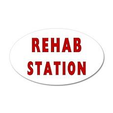 Rehab Station 38.5 x 24.5 Oval Wall Peel