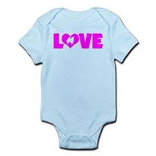 LOVE CHIHUAHUA (LONG COAT) Infant Bodysuit
