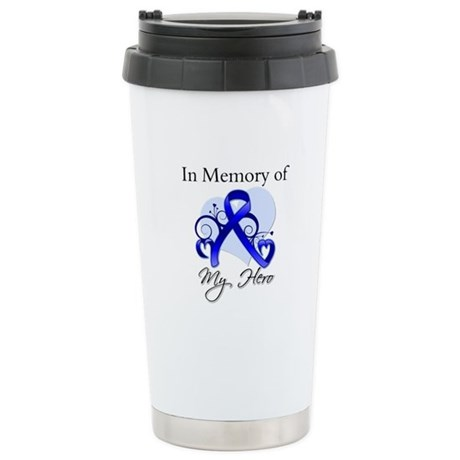 Colon Cancer Memory Hero Stainless Steel Travel Mu