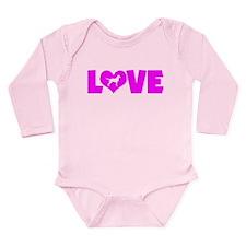 LOVE CHESSIE Long Sleeve Infant Bodysuit