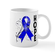 Floral Ribbon Colon Cancer Small Mug