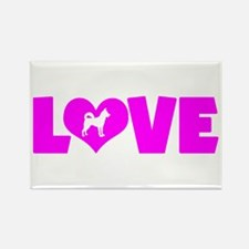 LOVE CANAAN DOG Rectangle Magnet