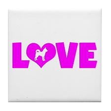 LOVE CANAAN DOG Tile Coaster