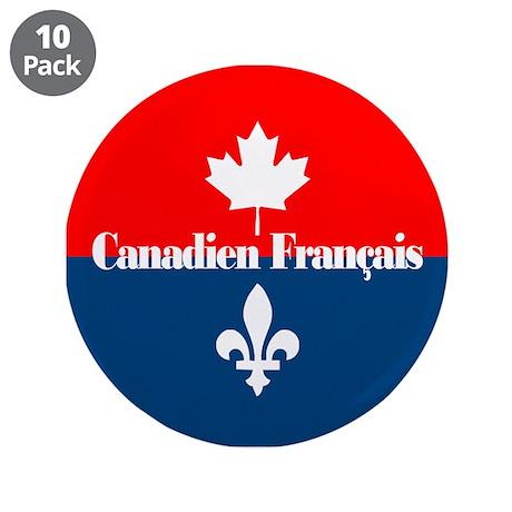 """Canadien Francais 3.5"""" Button (10 pack)"""