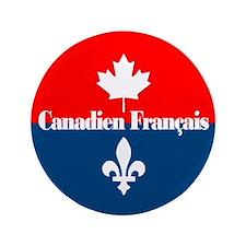 """Canadien Francais 3.5"""" Button"""
