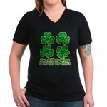 One of these things... Women's V-Neck Dark T-Shirt