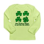 One of these things... Long Sleeve Infant T-Shirt