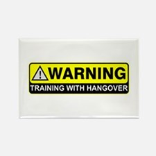 """Training w/ Hangover"" Rectangle Magnet (10 pack)"