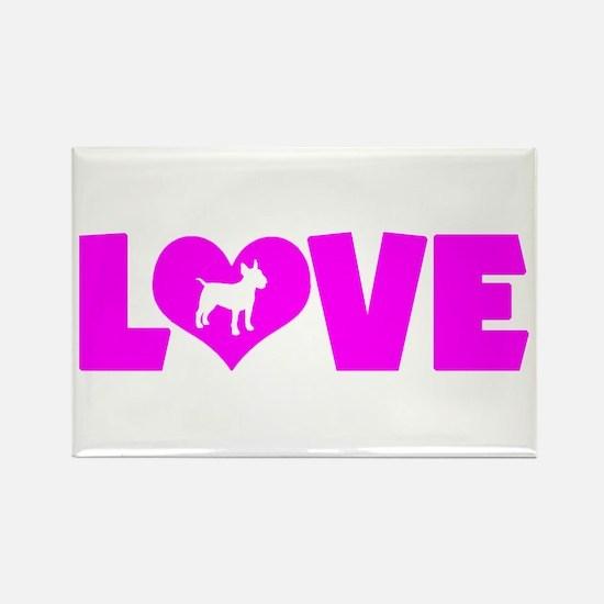 LOVE BULL TERRIER Rectangle Magnet