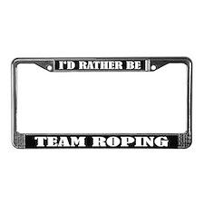 Team Roping License Frame