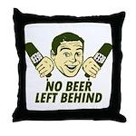 No Beer Left Behind Throw Pillow