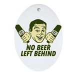 No Beer Left Behind Ornament (Oval)