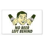 No Beer Left Behind Sticker (Rectangle)