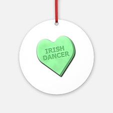 Irish Dancer Ornament (Round)