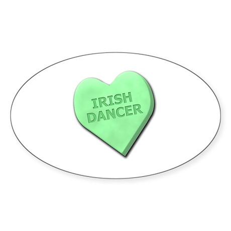 Irish Dancer Sticker (Oval)