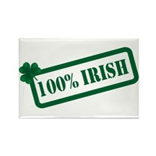 Stamped 100% Irish Rectangle Magnet