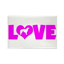 LOVE BORZOI Rectangle Magnet