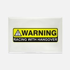 """Racing w/ Hangover"" Rectangle Magnet (10 pack)"