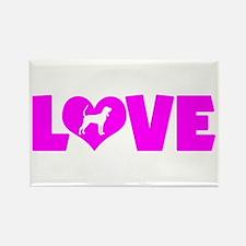 LOVE BLACK & TAN Rectangle Magnet (10 pack)