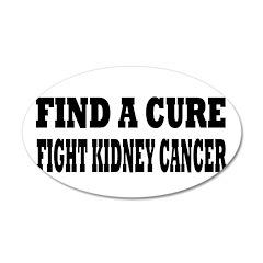 Kidney Cancer 38.5 x 24.5 Oval Wall Peel